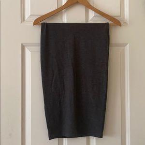 Soft, gray pencil skirt!